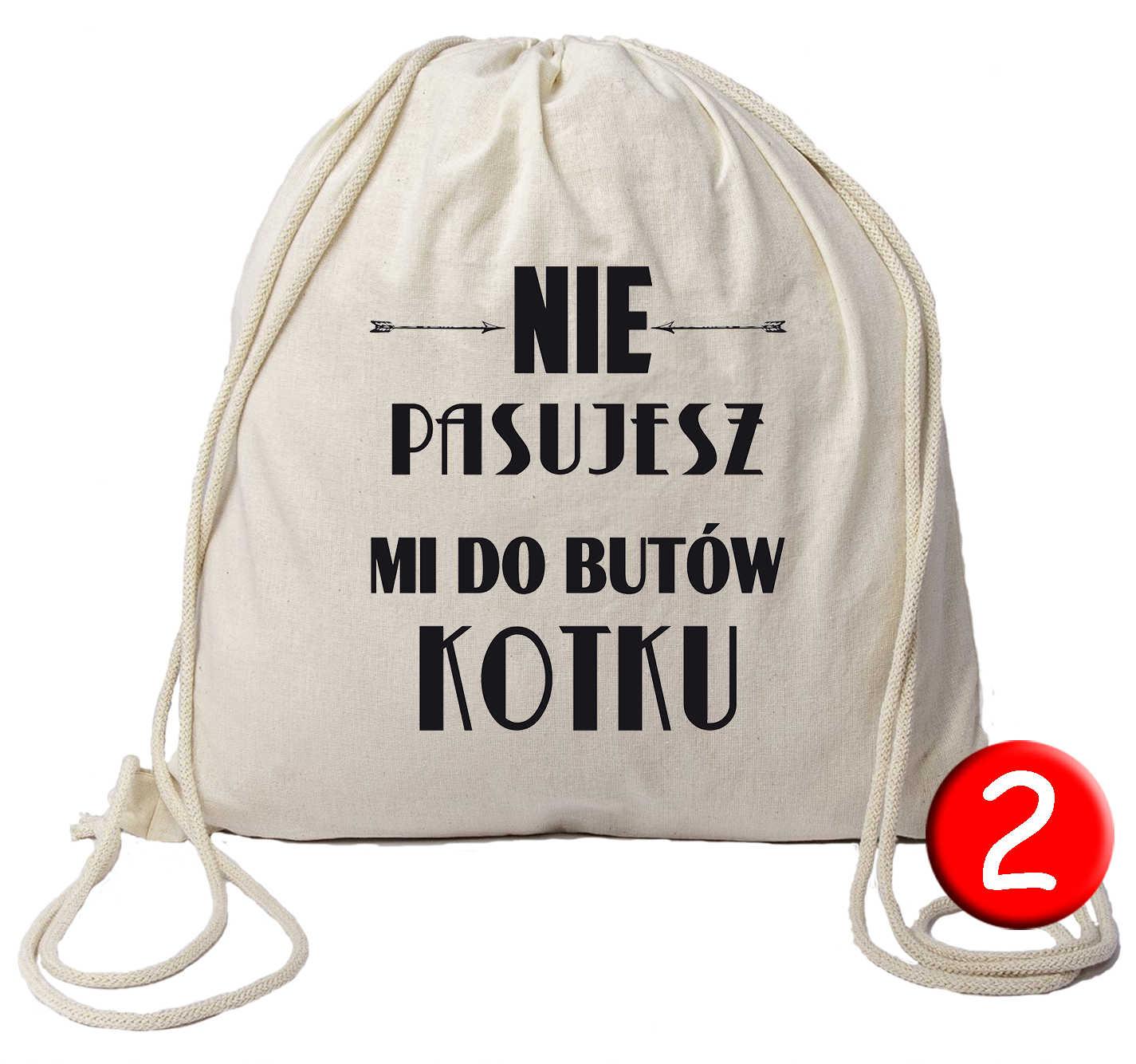 bf3b810b01fb8 Oglądasz: Plecak worek bawełniany EKO z nadrukiem wzór 2 9.00zł